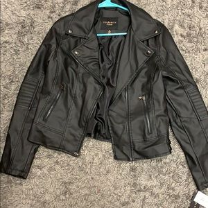 NWT faux leather jacket